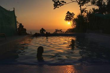 But also from the infinity pool it's breathtaking